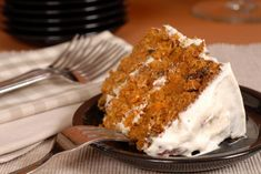 Round out your Easter dinner with a slice of moist and delicious carrot caked topped with cream cheese frosting that's sure to make a memorable treat. Waffle Recipes, Cake Recipes, Carrot Cake Topping, Easter Dinner, Easter Recipes, Cake Pans, Let Them Eat Cake, Food Print, Carrots