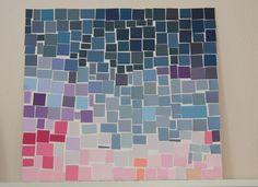 My paint chip mosaic art