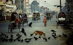 Street scene of Dhaka. January (1982)  Photographer- Helmut Schadt