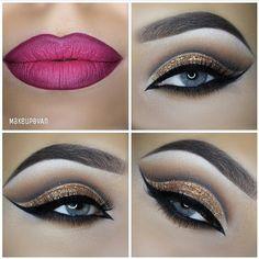 #likeforlike #eyeliner #eyeshadow #lips #powder #mascara #makeup #instagood#gold #glue#melissamways Web Instagram User » Collecto