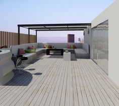 render penthouse terrace - render de la terraza de un ático. #Design