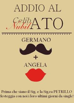 Addio al Nubilato e Celibato Bachelor and Bachelorette party invites