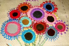 Shisha Embroidery | ... been playing with at our Tuesday Stitchers group. Shisha Mirror Work