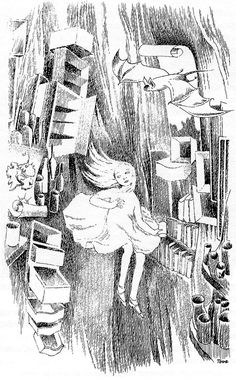 Tove Jansson illustration from 'Alice in Wonderland' by Lewis Carroll Alice In Wonderland Illustrations, Alice In Wonderland Book, Adventures In Wonderland, Tove Jansson, Lewis Carroll, Children's Book Illustration, Fairy Tales, Drawings, Artwork