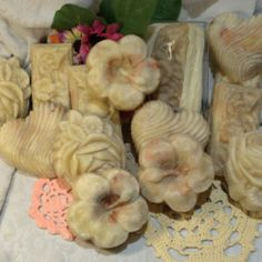 Cottage Garden - natural handmade cold process soap. Clays and salt.