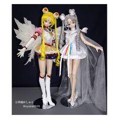 Sailor Moon and Sailor Cosmos Sailor Moon Manga, Sailor Moon Art, Custom Barbie, Custom Dolls, Sailor Moon Drops, Sailor Moon Collectibles, Cartoon Caracters, Sailor Moon Merchandise, Dream Anime