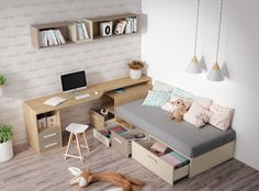 Study Room Design, Room Design Bedroom, Kids Bedroom Designs, Home Room Design, Kids Room Design, Home Decor Furniture, Furniture Design, Dressing Room Mirror, Ikea Small Spaces
