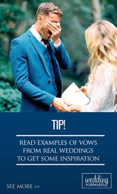 Examples Of Real Wedding Vows To Inspire You ❤ Personal wedding vows are always fun whether they are humorous or sweet & sincere. Read more: http://www.weddingforward.com/examples-of-wedding-vows/ #weddings #tips Photo: Winsome + Wright http://winsomeandwright.com/