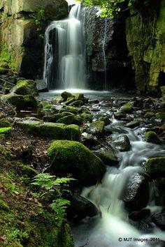 Lumsdale Falls, Matlock, Derbyshire.