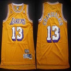 Lakers  13 Wilt Chamberlain Yellow Throwback Stitched  NBA Jersey from   49.99 Wilt Chamberlain 546940646