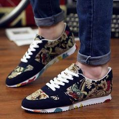 Printed Canvas Sneakers from #YesStyle <3 Hipsteria YesStyle.com