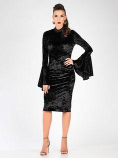 e000e3f5bbea Carla by Rozarancio Black Velvet Bodycon Dress