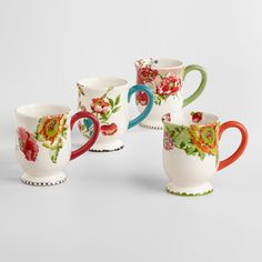 Made of earthenware with an exclusive design inspired by nomadic artwork, our floral mugs set a vibrant table. Coordinate them with our entire Nomad collection and layer with our everyday dinnerware. www.worldmarket.com #WorldMarket Easter Entertaining