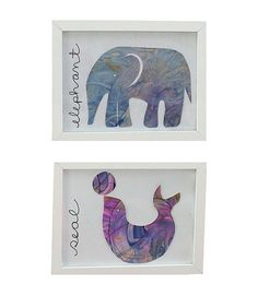 Abstract Arrangements are perfect for displaying adorable kid art works.