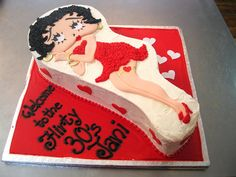 Betty Boop flat cut-out shaped cake by Charly's Bakery, via Flickr