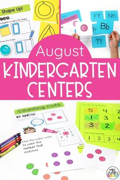 Needing some back to school literacy and math centers for kindergarten? These August kindergarten centers include great beginning of the year skills like letter and number recognition.