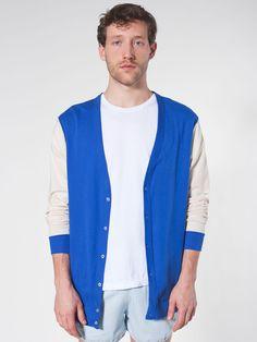 Baby Rib Cardigan | Cardigans | Men's Sweaters | American Apparel $40