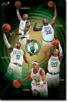 24x36 Boston Celtics Poster  Ballers Starting Five  Large 24x36 Inches  -- See this great product.Note:It is affiliate link to Amazon. #handsome
