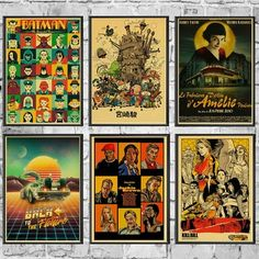 Aliexpress Batman Painting, Cheap Paintings, Kill Bill, Wall Bar, Kraft Paper, Pulp Fiction, Vintage Posters, Wall Decor, Retro