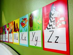 10 ways to display ABC flashcards