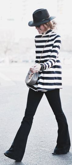 Black And White At The Cutting Edge Outfit by Happily Grey
