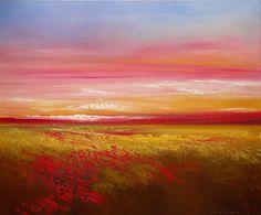 Winding Down by Faith Patterson Oil ~ 20 x 24 Original Artwork, Original Paintings, Flower Landscape, Oil Painting On Canvas, My Sunshine, Landscape Paintings, Amazing Art, Wild Flowers, Sky