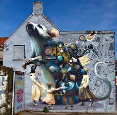 Wall paints, Muurschilderingen, Peintures Murales,Trompe-l'oeil, Graffiti, Murals, Street art.: 2017