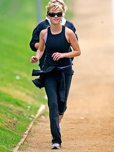 Running - good for the body and soul...(and this just happens to be Reese Witherspoon)
