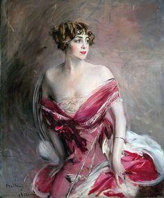 Giovanni Boldini - La dama di Biarritz, 1912  #boldini #pittura #belleepoque