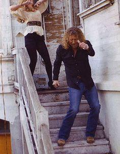 Robert Plant on the Set