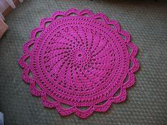 Ravelry: Raspberry Sorbet Rug pattern by Daina Mickus