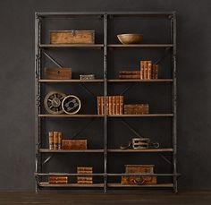 French Library Shelving, $2195 of Restoration Hardware Awesomeness.