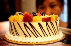 Chocolate Truffle cake with fruit toppings at #DefenceBakery.  #Food #recipies
