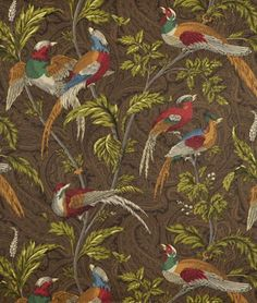 Leather Animal Bird Drapery and Upholstery Fabric Chair Fabric, Drapery Fabric, Fabric Decor, Fabric Design, Drapery Panels, Chair Cushions, Upholstery Fabrics, Diy Chair, Cushion Fabric