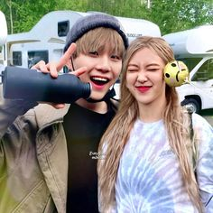 Blackpink And Bts, Couple Goals, Idol, Ships, Wattpad, Couples, Rose, Instagram, Collages