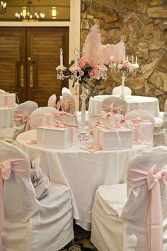 Shabby chic pink & white