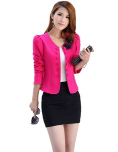 Slim Double Breasted Woman Blazer