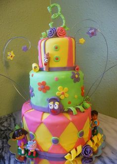 Image detail for -Pure Delights Baking Co.: Dora the Explorer Cake Dora Birthday Cake, Dora Cake, 2nd Birthday, Birthday Ideas, Cake Images, Cake Pictures, Diego Cake, Channel Cake, Cake Truffles