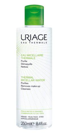 Uriage Eau micellaire thermale, peaux grasses/mixtes Vosage et yeux