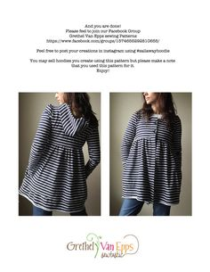 Sale Sail Away Hoodie Sewing Pattern. PDF file by grethelvanepps3