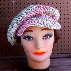 Unique Hand Crochet Hat for Womens Hat Women by strawberrycouture, $40.00