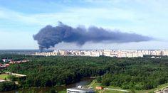 Massive fire near Moscow engulfs warehouse storing gas cylinders http://pronewsonline.com  © mari_rakitina