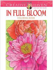 In Full Bloom Coloring Book Adult Stress Relief Fun Creative Designs Doodle Art