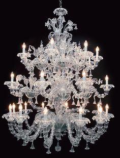 Ca' Rezzonico lustre en verre authentique de Murano Topdomus Cristal Rezzonico
