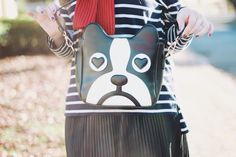 Sailor Bulldog http://melinasouza.com/2014/06/11/sailor-bulldog/ #navy #stripes #bulldog