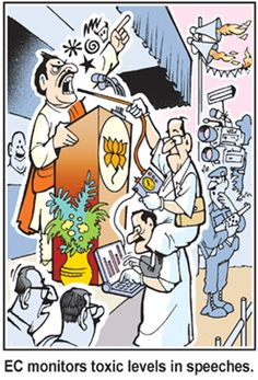 Toxic levels in speeches- Times of India