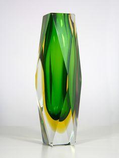Murano Sommerso Glass Vase. by Luigi Mandruzzato, c1970