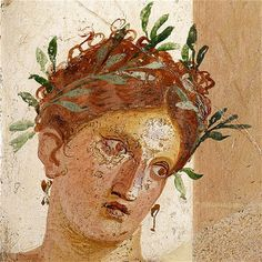 A fresco of the Greek goddess Akte, found in Herculaneum. Credit: Soprintendenza Speciale per i beni Archeologici di Napoli e Pompei