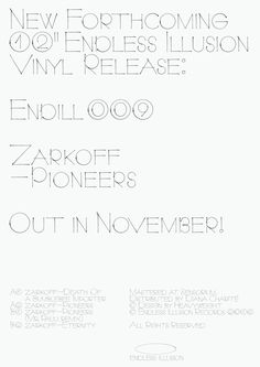 "janhorcik:  "" New forthcoming Endless Illusion release!  #JanHorcik #Heavyweight #EndlessIllusion #Zarkoff  """