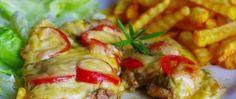 Pudinkový koláč den a noc s jablky | NejRecept.cz Pesto, Cherry, Chicken, Cherries, Cubs, Kai